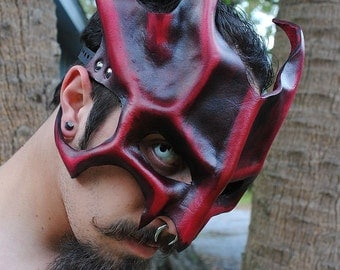 Ruby Great Dragon Leather Mask