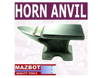 """Mazbot  5"""" x 2.5""""  Polished Steel ANVIL for jewelry Wire Work - HA02"""