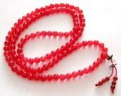 6mm Red Stone 108 Prayer Beads Tibetan Buddhist Rosary Beaded Japa Mala   ZZ026