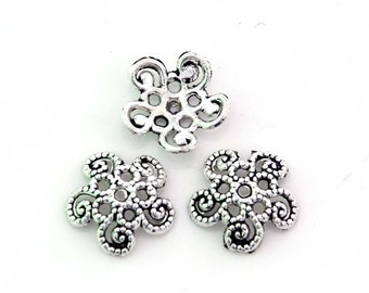 20Pcs Alloy Metal Flower Cap Beads Finding--20Pieces--12mm x 12mm  ja508