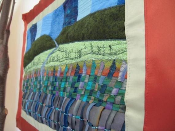 Tidelands Wall Hanging Tapestry Fiber Art Landscape