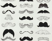 Alexander Henry - Where's my Stache - Natural - 1.5 yards
