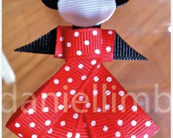 price is for 6 ribbon sculpture Minnie mouse or/and disney inspired princess clips or headband