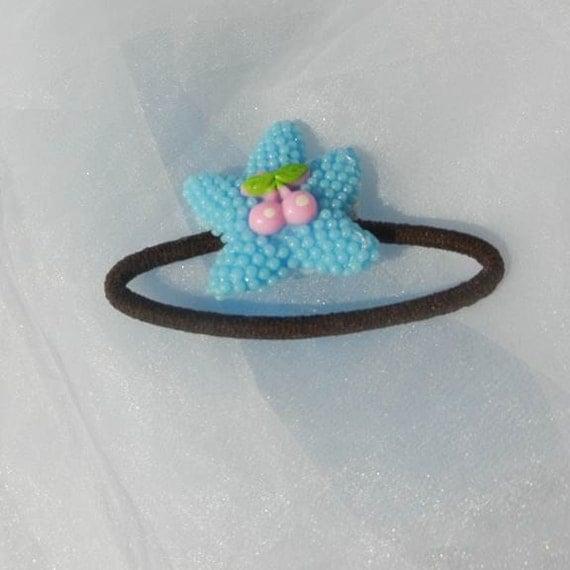 Blue Starfish Ponytail