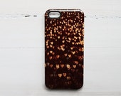 Clearance SALE iPhone 5 case hard, When We Fell in Love, Hearts iPhone Case Marianne LoMonaco iPhone case girl case Brown Gold Hearts