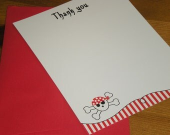 Pirate Thank you notes - Set of 12