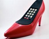 Vintage Shoe Phone 1980s High Heel Hot Pink Pump Telephone