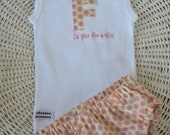 Nappy Cover / Bloomers ONLY to match Personalised Intial Bodysuit or Singlet