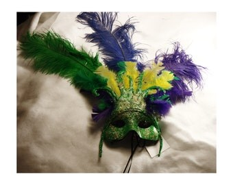 His and hers Masquerade Costume Mardi Gras Mask, colorful, Handmade, ooak, Halloween mask