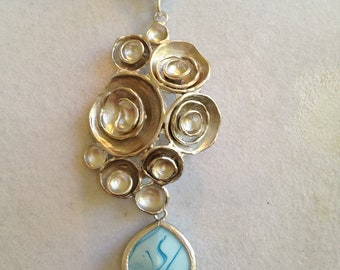 Bridal Silver Pendant Necklace