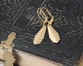 Sale Gold Chevron Earrings
