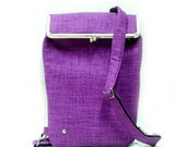 Backpack - for laptop and more - PURPLE - Duchess Case collection