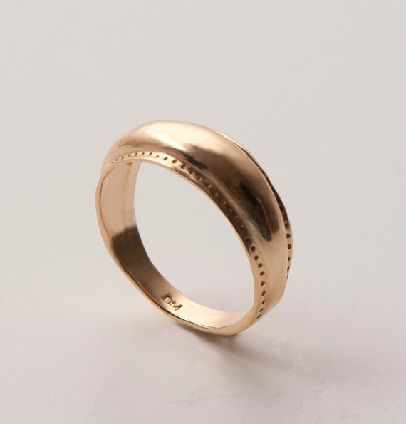 Viking ring no.2 - 14k gold ring, unisex ring, wedding ring, wedding band, mens ring