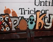READY to SHIP - SPOOKY Wood Letter Blocks - Spooktacular Halloween Decor