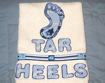 Tar Heels North Carolina Hand Towel Kitchen, Bath, Bar, Grill, Grad Gift