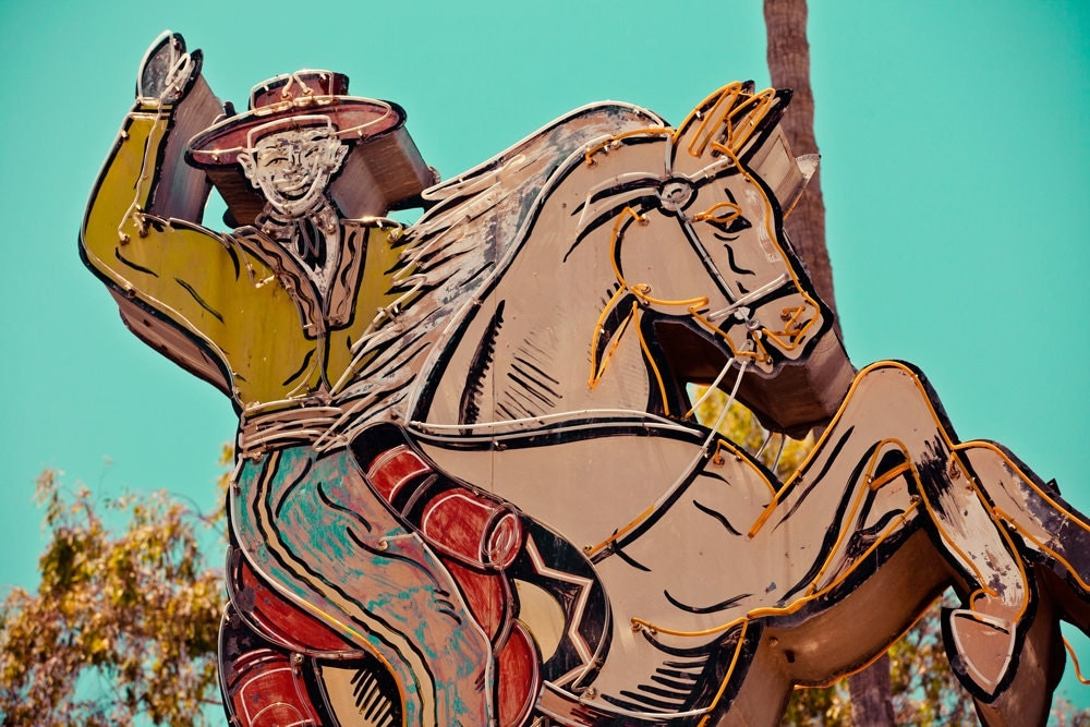 Cowboy and Horse Vintage Neon Sign Mendes by ...