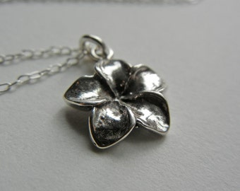 Sterling Plumeria Necklace