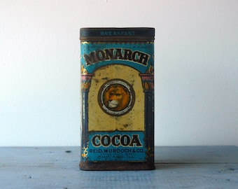 1923 Monarch Brand Cocoa Tin