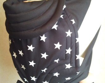 MEI TAI Baby Carrier / Sling / Reversible / Stars in straight cut model