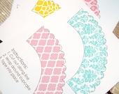 Custom Cupcake Wrappers - Basic - Printable PDF - CHOOSE 2 DESIGNS