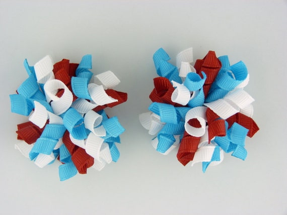 red white and turquoise mini korkers set of two - Thing 1 and Thing Two Dr. Seuss inspired
