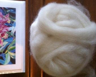 Spinning Fiber Alpaca Soysilk White Roving 4oz from Colorado