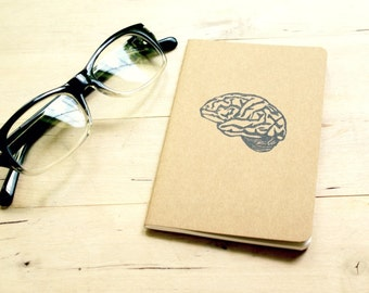 Second Brain Science Pocket Size Moleskine Journal Notebook Anatomy Student Nerd Geek Teen Boys Girls Birthday Back to School Student Kid