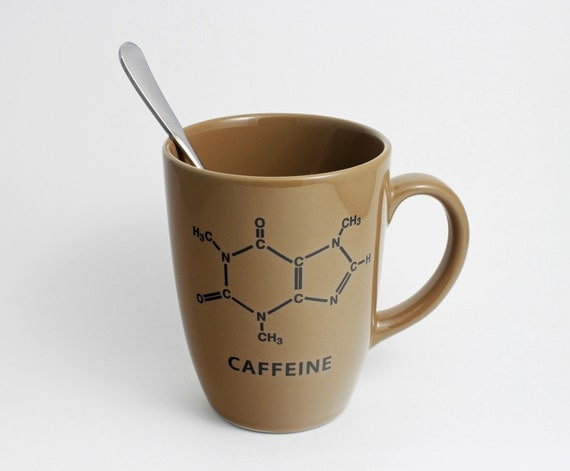 Chemistry Coffee Cup with Caffeine Molecule
