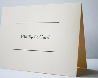 Personalized Stationery -- The Calling Card -- Set of Custom Notes and Envelopes- CHOOSE your QUANTITY