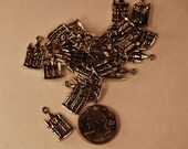 Lot of 4 Silver Castle Charms  - Destash Supply