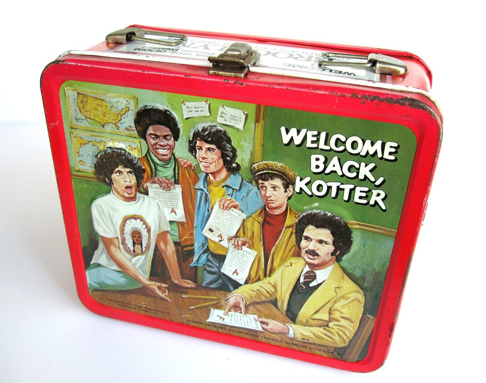 Welcome Back Kotter Lunchbox Embossed Aladdin By Modernpoetry