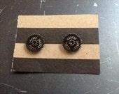Lg Gear Stud Earrings