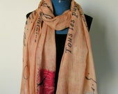 French Correspondence - digitally printed scarf