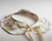 Peter Pan Collar Necklace - Detachable Collar- Neckwear - Floral - Organic Cotton - Eco Friendly