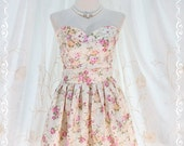 LAST ONE A Lovely Queen - Romance Strapless Cocktail Dress Party Dress Wedding Bridesmaid Dress Prom Dress Floral Dress US 0-4