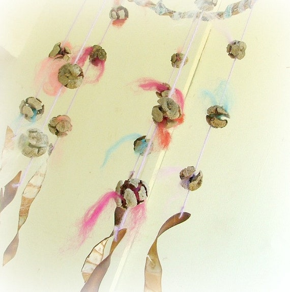The good fairy spiral wool baby mobile 100% natural