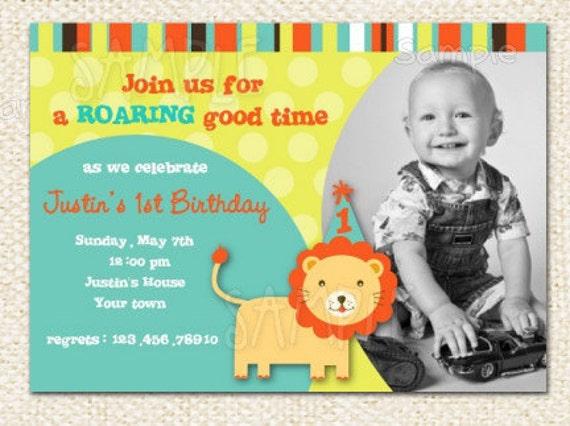Lion Birthday Invitations – Lion Birthday Invitations