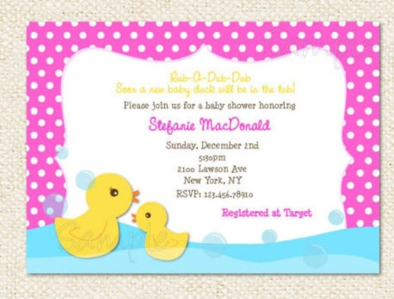 rubber duck baby shower invitations by lollipopprints  etsy, Baby shower