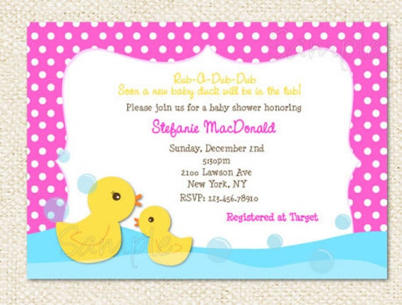 rubber duck baby shower invitations, Baby shower invitations