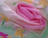Vintage Floral and Butterflies Silk Scarf by TSIAKIRIS  Seta