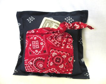 Tooth Fairy Pillow Bandana Style for Boy or Girl - Wedding Ring Pillow