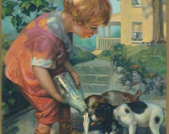 A Treat For Puppies Wilkinson Calendar Art Print