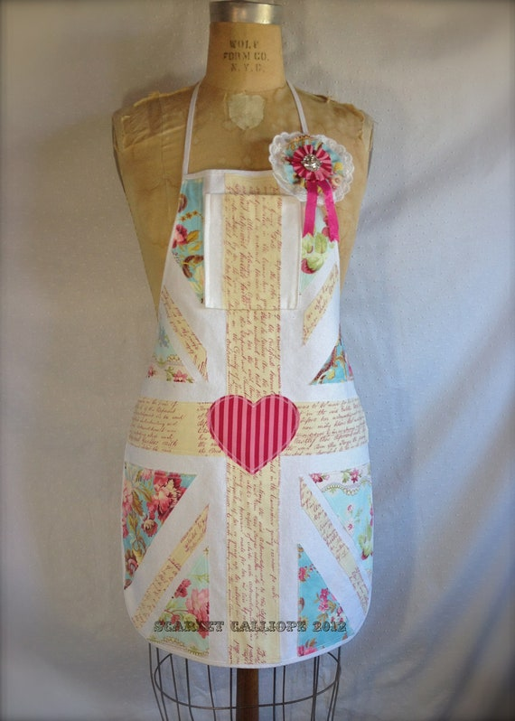 UK Love Union Flag Heart Apron