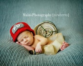 Firefighter Helmet in Red, Gray and White Available in Newborn to Adult Size- MADE TO ORDER