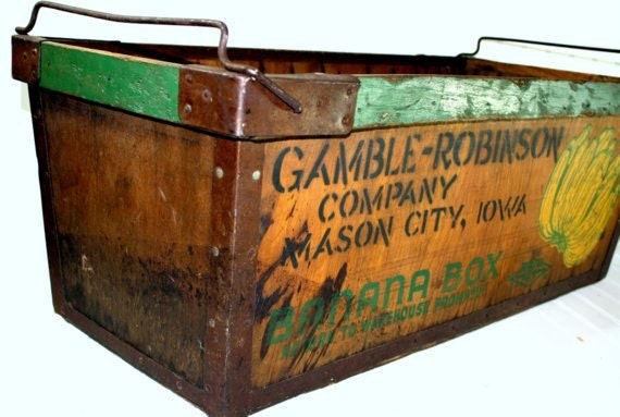Vintage Banana Box Vintage Banana Crate