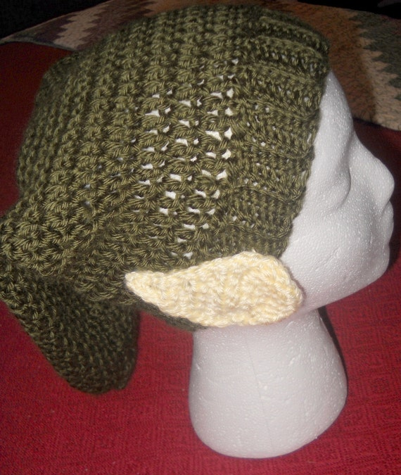 Pattern Only Crocheted Zelda Link Hat With Elf Ears Attached Adult