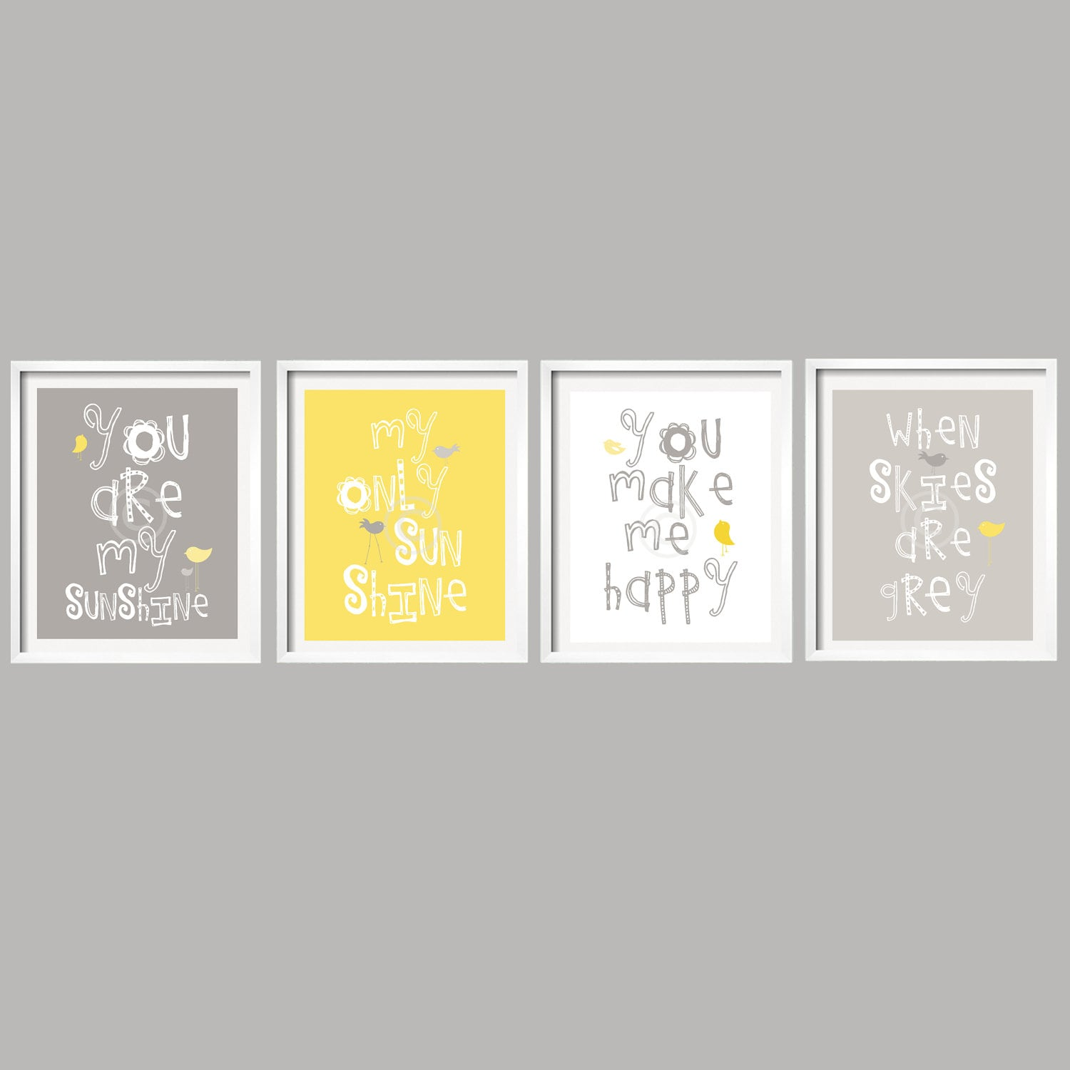 Yellow Wall Art Sale Kids Wall Art You Are My Sunshine Yellow And Gray Nursery