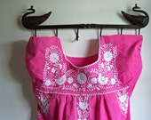Vintage Native Embroidered Pink Dress
