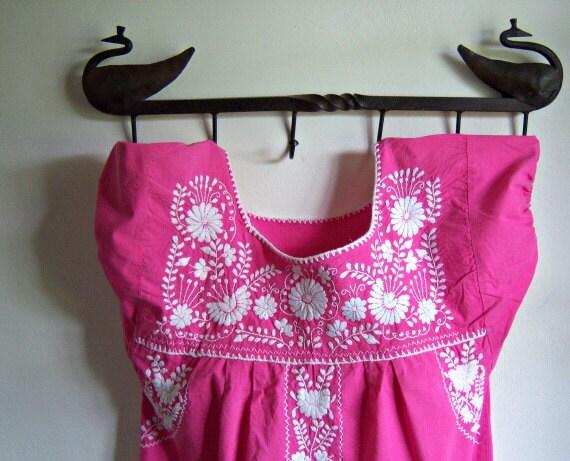 Vintage Native Embroidered Pink Dress