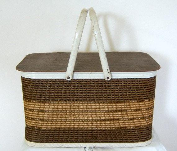 Vintage Redmon Rattan Picnic Basket